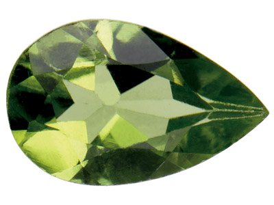 Peridot, Pear, 6x4mm