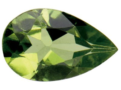 Peridot, Pear, 7x5mm