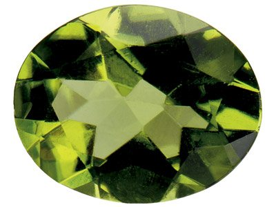 Peridot, Oval, 8x6mm