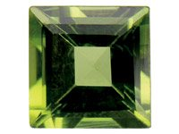 Peridot,-Square,-4x4mm