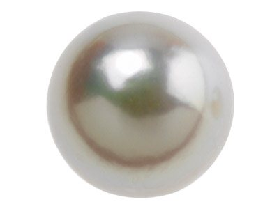 Cultured Pearl Pair Full Round     Half Drilled 7-7.5mm White         Freshwater