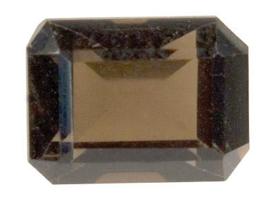 Smokey Quartz, Octagon, 7x5mm