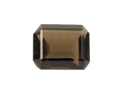 Smokey Quartz, Octagon, 12x10mm