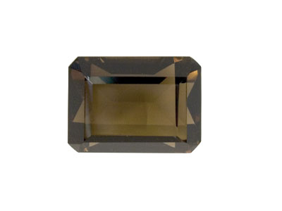 Smokey Quartz, Octagon, 16x12mm