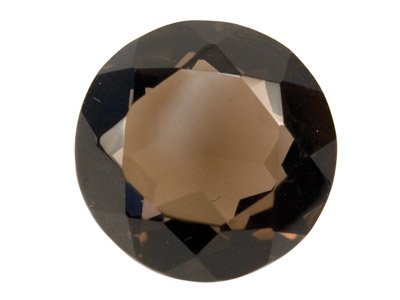 Smokey Quartz, Round, 16mm