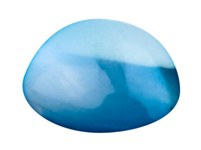 London Blue Topaz, Round Cabochon  5mm, Treated