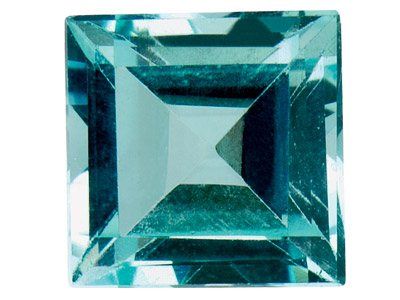 Sky Blue Topaz Square 3x3mm     Treated