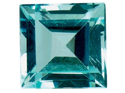 Sky Blue Topaz, Square, 4x4mm,     Treated