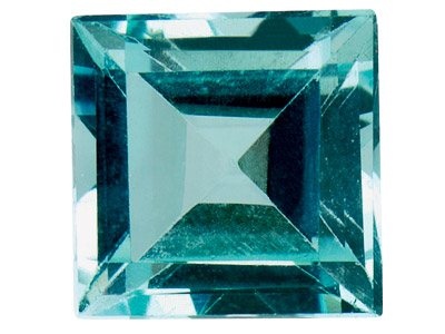 Sky Blue Topaz, Square, 5x5mm,     Treated