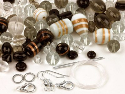 Glass Bead Kit, Black And White