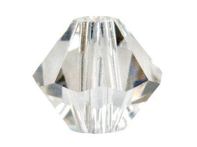 Swarovski Crystal Pack of 12,      Bicone, 5328, 6mm Silver Shade