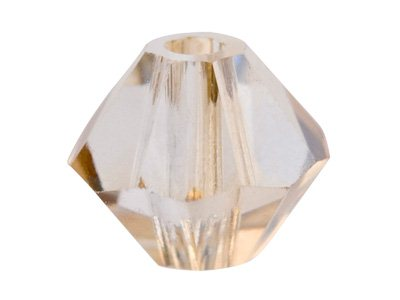 Swarovski Crystal Pack of 12,      Bicone, 5328, 6mm Crystal Golden   Shadow