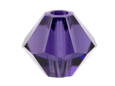 Swarovski Crystal Pack of 12,      Bicone, 5328, 6mm Purple Velvet