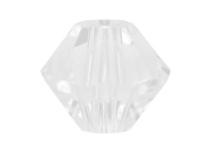 Swarovski Crystal Pack of 12,      Bicone, 5328, 6mm White Opal