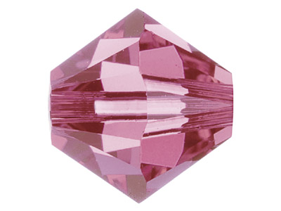 Swarovski Crystal Pack of 12,      Bicone 5328, 6mm, Rose