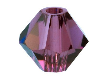 Swarovski Crystal Pack of 6 Bicone, 5328, 8mm Amethyst