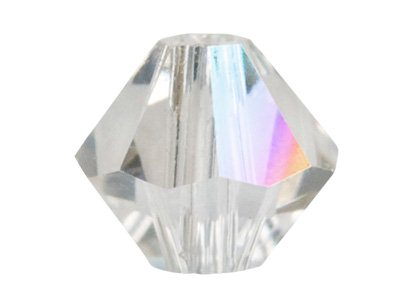 Swarovski Crystal Pack of 6 Bicone, 5328, 8mm, Crystal Ab