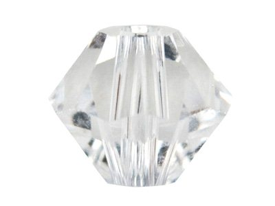 Swarovski Crystal Pack of 6 Bicone, 5328, 8mm, Crystal