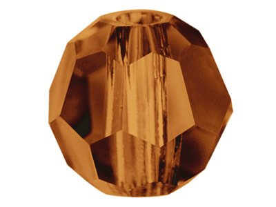 Swarovski Crystal Pack of 12,      Round, 5000, 4mm Smoked Topaz