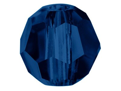 Swarovski Crystal Pack of 12,      Round, 5000, 6mm Dark Indigo