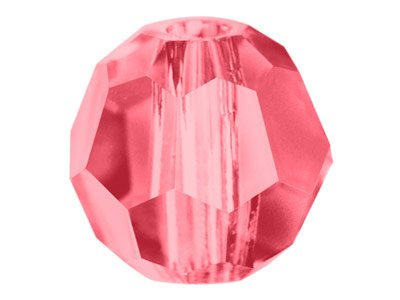 Swarovski Crystal Pack of 12,      Round, 5000, 6mm Indian Pink