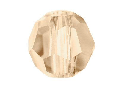 Swarovski Crystal Pack of 6 Round, 5000, 8mm Crystal Golden Shadow
