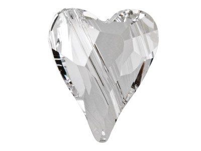 Swarovski Crystal Wild Heart Bead, 5743, 17mm Crystal