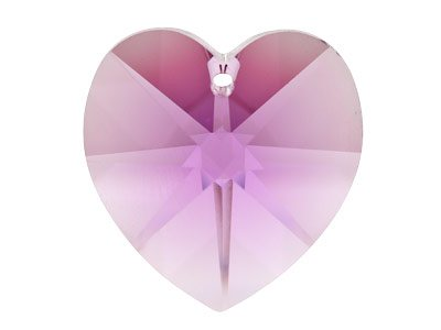 Swarovski Crystal Heart, 6228,     18x17.5mm Amethyst