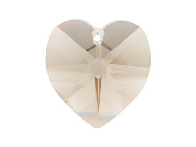 Swarovski Crystal Heart, 6228,     18x17.5mm, Crystal