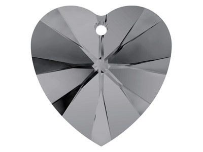 Swarovski Crystal Heart, 6228,     18x17.5mm Crystal Silver Night
