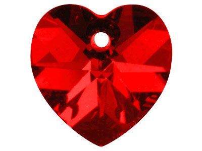Swarovski Crystal Heart, 6228,     18x17.5mm Siam
