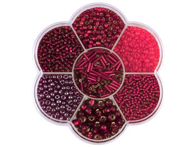 Preciosa Czech Red Seed Bead Mix