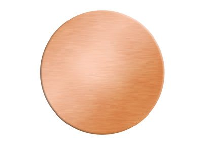 Copper Blanks Round Pack of 1,     127mm X 0.9mm