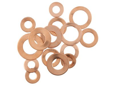 Copper Blanks Circles Pack of 15   14-20mm X 1mm