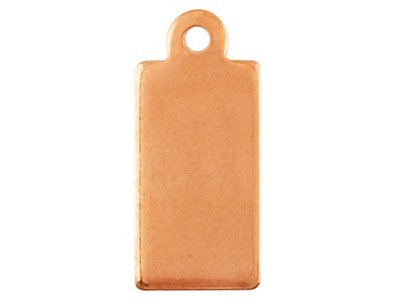 Copper Blanks Rectangular Tag      Pack of 24 13.9mm X 6.3mm X 1mm