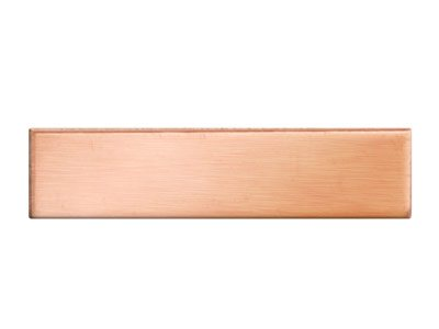 Copper Blanks Rectangular Pack of 6 6mm X 25mm X 0.7mm