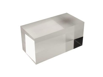 Solid clear acrylic jewellery display block large for Large acrylic block