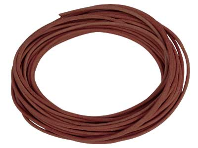 Brown Round Leather Cord 2mm       Diameter 1 X 5 Metre Length