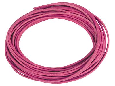 Pink Round Leather Cord 2mm       Diameter 3 X 1 Metre Length