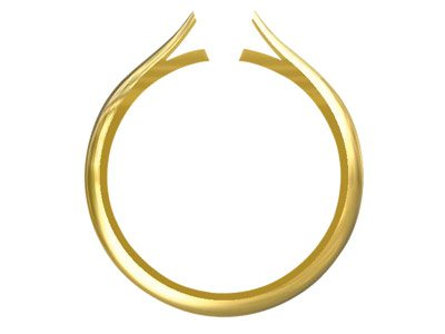9ct Yellow Medium Ss2 Tapered Ring Shank Hallmarked Without Cheniers  Size M
