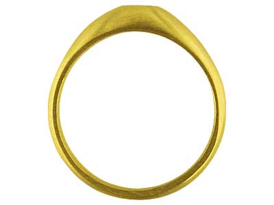 18ct Yellow Gold C30 Domed Ring    Single Stone 3.5mm Hallmarked      Widest Point 7.7mm Size Q Round    Hollowed Shoulders
