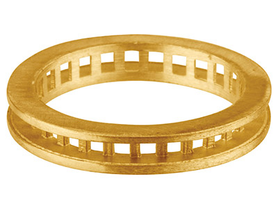 18ct Yellow Gold K19 Full          Eternity Ring Channel Set          Hallmarked 26 Stone Size 2mm       Roundsquare 3.6mm Wide Size N