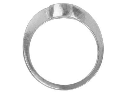18ct White Round Crossover Ring    Mount Hallmarked 50pt Size M
