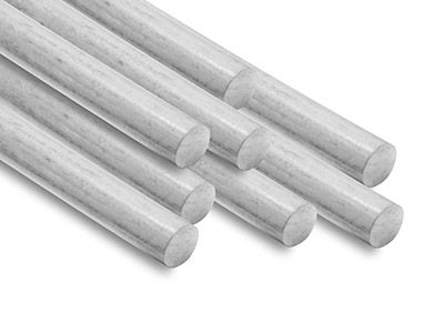 18ct White Round Pin Wire 1.50mm   Fully Hard, Straight Lengths