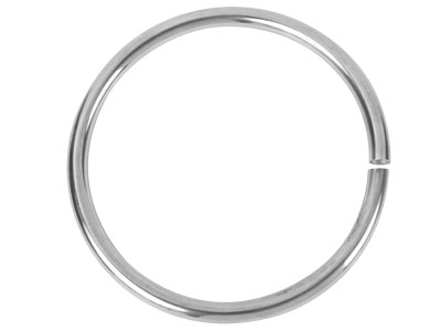 Silver Round Bangle, ID 63mm x 5mm thick