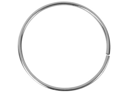 Sterling Silver Solid Plain Round  Bangle 63mm Inside Diameter X     3.5mm Thick