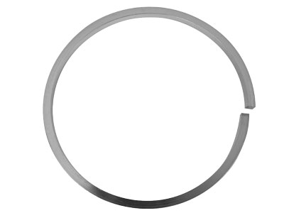 Sterling Silver Solid Plain Sqr    Bangle 63mm Inside Diameter X 3mm Thick