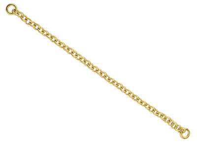 18ct Yellow Bracelet Safety Chain  Heavy