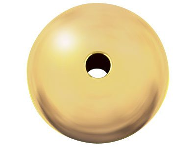 18ct Yellow Gold Plain Rondell 4mm
