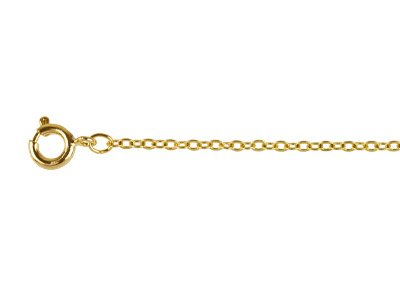 Gold Plated 2mm Flat Trace Chain  1845cm